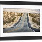 Large Framed Photo. US 190 road, Death Valley National Park,