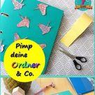 Einhorn Cover für Ordner und Hefter im Origami-Design - clarki.de - DIY, Fun Food, kreative Bücher & (e)Books