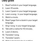 Learning a Language Goals