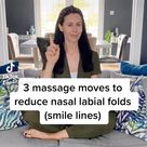 3 massage moves to reduce nasal labial folds (smile lines)
