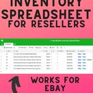 Free Spreadsheet for Ebay & Poshmark