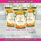Pumpkin capri sun labels-autumn party favors-digital-print-fall party favors-pumpkin patch favors-pumpkin baby shower-juice pouch labels