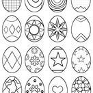 Symbol & Abstract Easter Eggs Multiple Designs Per Sheet
