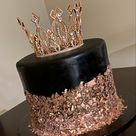 Rose Gold and Black Cake