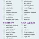 Essential Back To School Supplies List & Free Printable Checklist 2021
