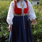 My daughter in one of Norways national costumes