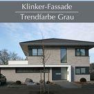 Klinker-Fassade in Grau