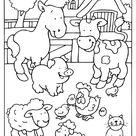 Kleurplaat Boerderij dieren koe