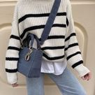 Best Striped Sweaters Outfits for Fall/Winter