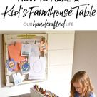 How to Make a DIY Farmhouse Kid's Table - Our Handcrafted Life