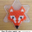 Bügelperlen Ideen: Vorlage Fuchs - Strickstern