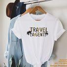 Travel Agent Shirt, Travel Agency Shirt, Gift For Travel Agent, Travel Agent Gift, Travel Agent Apparel, World Traveler, Travel Planner