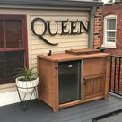 FREE SHIPPING Outdoor Beverage Bar With Cooler and Mini Fridge   Etsy
