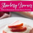 Strawberry Brownies Recipe with Cream Cheese Frosting - Passion For Savings