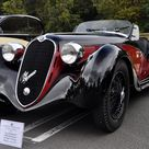 sweeping curves of a 1939 Alfa Romeo 6C 2500 super sport Tipo 256, took 2nd in class at 1997 Pebble Beach