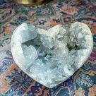 DISCOUNTED CELESTITE heart