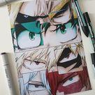 BNHA Eye collages