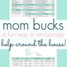motivate your kids to help with mom bucks • notice the LITTLE things