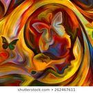 Colors Mind Series Creative Arrangement Elements: illustration de stock 262467611