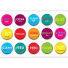Colorful Chore Chart Magnets - Kids Chores - Family Jobs - Daily Routine - Chore Chart - Family Organization - Family Command Center