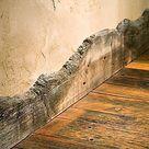 Scheunentor, Fußleiste, lebendes Randholz, natürlich, rustikal - Wood Ideas