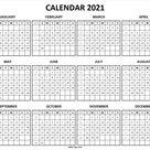Calendar 2021 with Week Number - 2021 Printable Calendar Vertical
