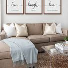 Housewarming Gift - Live Laugh Love Sign - 3 Piece Set - Free Shipping