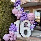 "DECOR • BALLOONS • & MORE 🇨🇦 on Instagram: ""what a sweet 16! 💜 Happy Birthday Olivia!"""