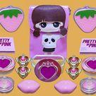 Pink Slime - Mixing Makeup Eyeshadow Into Clear Slime ASMR  107   Satisfying Slime Video
