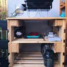 Grilltisch aus Paletten bauen   Upcyclers