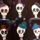 Halloween Art- Painted Skeletons - Art Teacher in LA