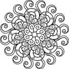Beautiful Deco Mandala. Round Ornament Pattern