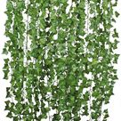 Fake Ivy Leaves, Set of 12 Artificial Greenery vines for room decor leaves room decor fake leaves ivy garland faux vines decor wedding decor