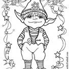 Kleurplaat Kleine Elf. Gratis kleurplaten om te printen