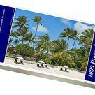 1000 Piece Puzzle. Beach with palm trees, Bora Bora, French