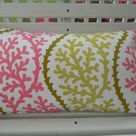 CLEARANCE Coral Outdoor Pillow Cover Beach Decorative Patio Porch Accent Throw Pillow Lime Green Pink Coral