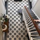 Kitchen floor mat with gray Moroccan tiles deisgn. Kitchen mat, door mat, pet mat. Grey Zellige floor tiles.