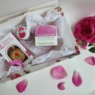Bulgarian Rose gift box care set: high quality natural Rose oil , Rose face cream and Rose lip balm , in Gift box!
