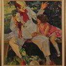 Haddon Hubbard Sundblom Other Art Style Painting: Clown The Girl 1928