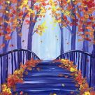 30 Easy Painting Ideas for Beginners, Easy Landscape Paintings, Simple