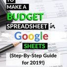 How to Make a Budget Spreadsheet in Google Sheets (Step-By-Step Guide for 2021!)