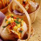 Cheesy Corn Stuffed Jacket Potatoes recipe, Corn Recipes