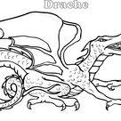 Einfach Ausmalbilder Drachen  Färbetipps