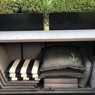 Anrichte Vorratsschrank Kissenschrank BLACK BOX 760 ltr.