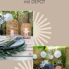 DIY-Gartentisch & sommerliche Tischdeko | 📸 IG: @sarahs_scandi_home DEPOT 💚