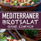 Mediterraner Brotsalat   schnell und einfach gemacht   emmikochteinfach