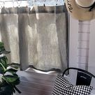 Pleated ticking striped Cafe Curtain  Tier Curtains Kitchen   Etsy