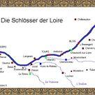 Die Karte der Schlösser an der Loire