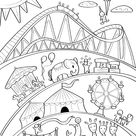 Printable Carnival Coloring Page