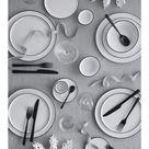 Broste Copenhagen 4er-Set Dessertteller Salt